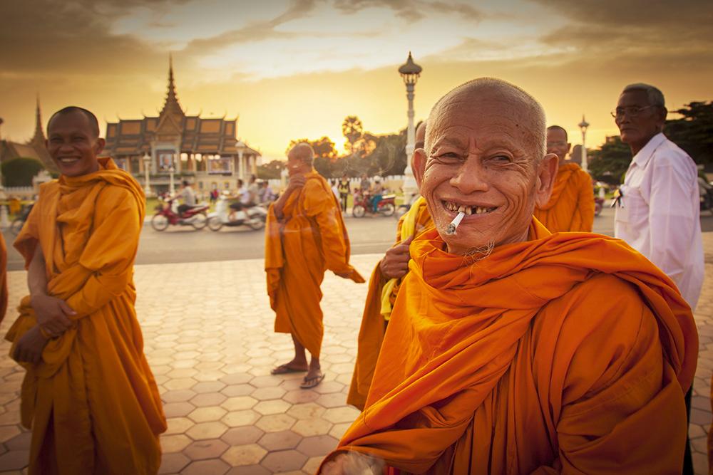 Monks at Royal Palace PNH